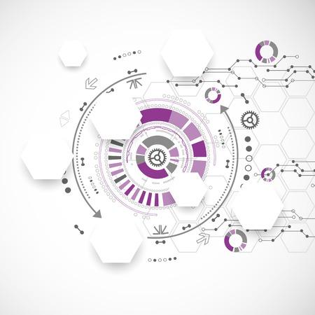 Nieuwe technologie zakelijke achtergrond Stock Illustratie