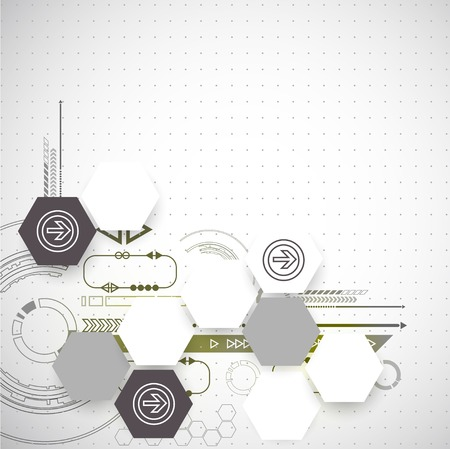 new technology: New technology business background Illustration