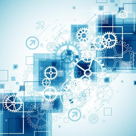 Tecnología Resumen de antecedentes de negocios Vectores