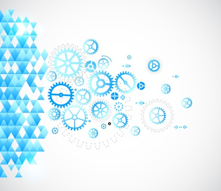 Abstract background with technological elements Vector