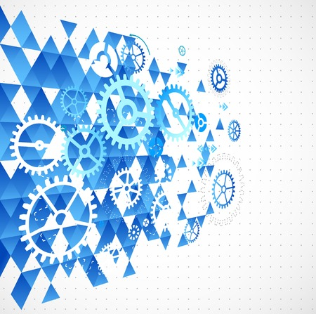 cover concept: Abstract background with technological elements Illustration