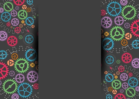 factory automation: Abstract technology background with colorful gears. Vector illustration