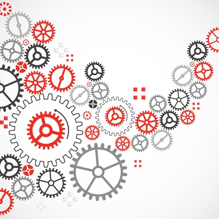 industry concept: Abstract technological background with various cogwheels