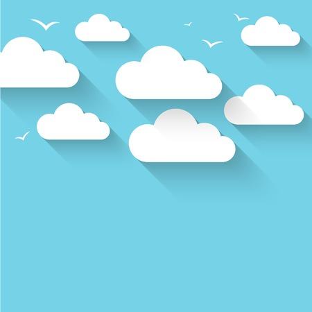 volar: Nube del vector del tema de fondo.