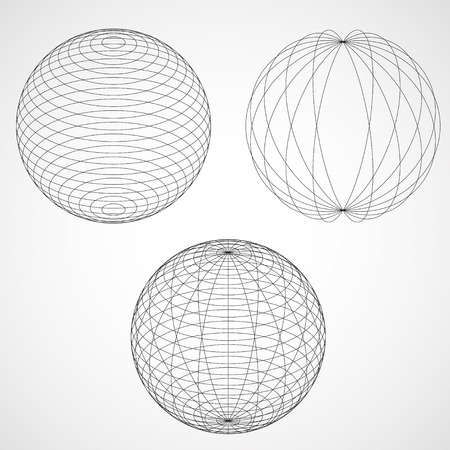 globe grid: Abstract Design Sphere. Vector illustration