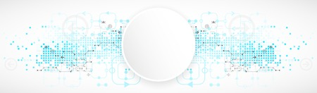 blue network: Abstract technological background. Vector illustration