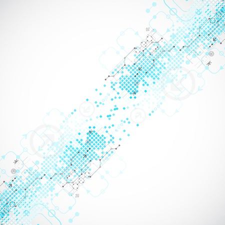 Abstract technological background. Vector illustration Vector