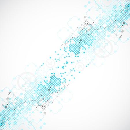 Abstracte technologische achtergrond. Vector illustratie Stock Illustratie