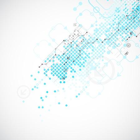 テクノロジー: 技術の抽象的な背景。ベクトル図