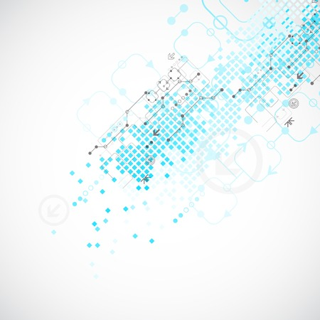 tecnologia informacion: Fondo tecnol�gico abstracto. Ilustraci�n vectorial