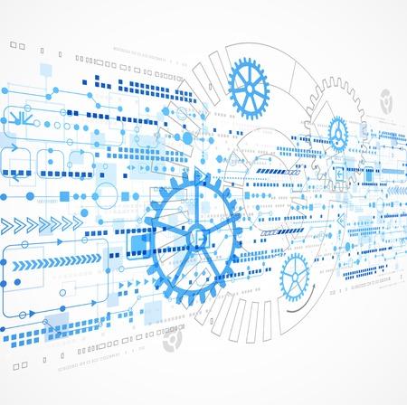 Abstrakte Technologie Business-Template Hintergrund. Vektor Standard-Bild - 34019859