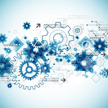 engranajes: Fondo de la plantilla de negocio abstracto tecnolog�a. Vector