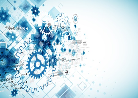 Abstracte technologie business template achtergrond. Vector Stock Illustratie