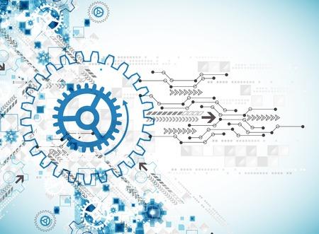 maquinaria: Fondo de la plantilla de negocio abstracto tecnología. Vector