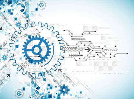 Résumé technologie modèle d'affaires arrière-plan. Vecteur