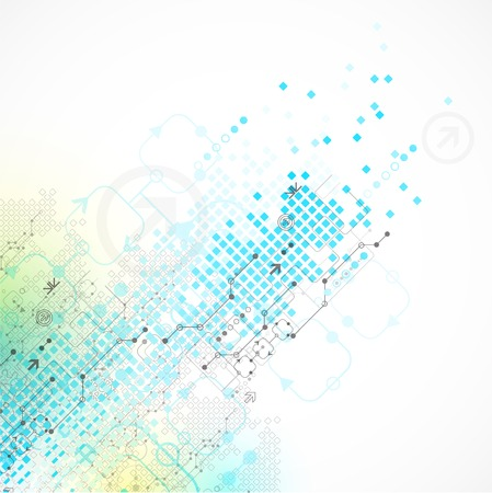 electronics industry: Abstract technology business template background. Vector