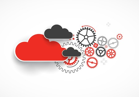 Web cloud technology bussines abstract background. Vector Vettoriali