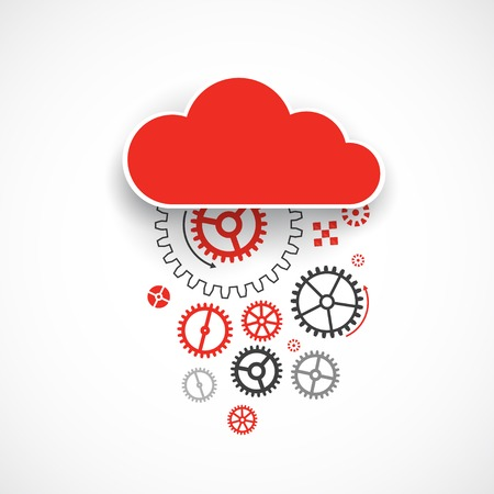 gears: Web cloud technology bussines abstract background. Vector Illustration