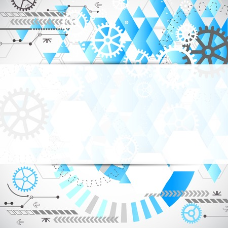 industrial decor: Abstract technological background with various technological elements. Vector