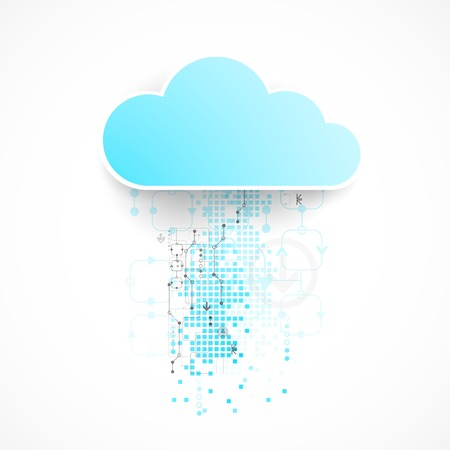 bussines: Web cloud technology bussines abstract background. Vector Illustration