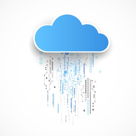 Web cloud technology bussines abstract background. Vector Illustration