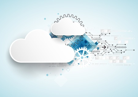 Web cloud technology bussines abstract background. Vector  イラスト・ベクター素材