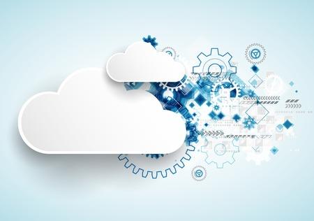 web technology: La tecnologia Web bussines sfondo astratto. Vettore Vettoriali