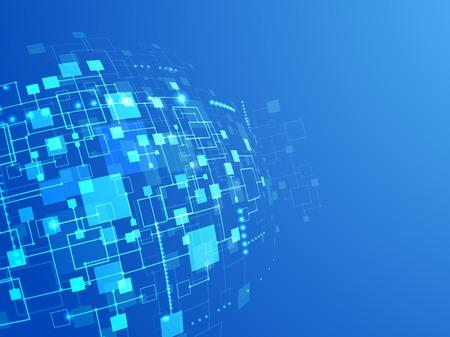 digitální: Abstraktní technologie pojetí obchodní zázemí. Vektor