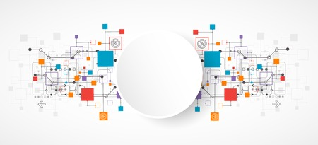 抽象的背景,技術主題,為您的企業。向量