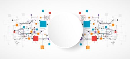 Abstraktní pozadí, technologie téma pro vaše podnikání. Vektor Ilustrace