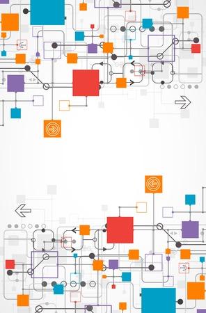 あなたのビジネスのための技術テーマの抽象的な背景。ベクトル  イラスト・ベクター素材