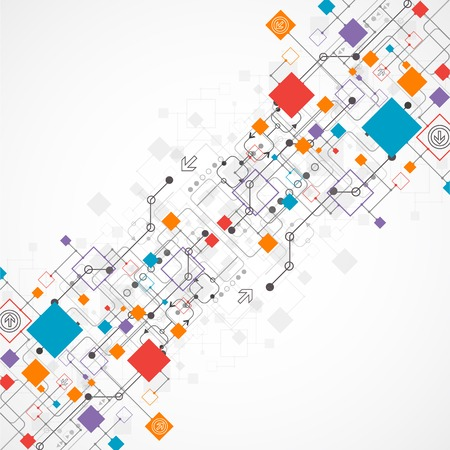 Abstract background, technology theme for your business. Vector  イラスト・ベクター素材