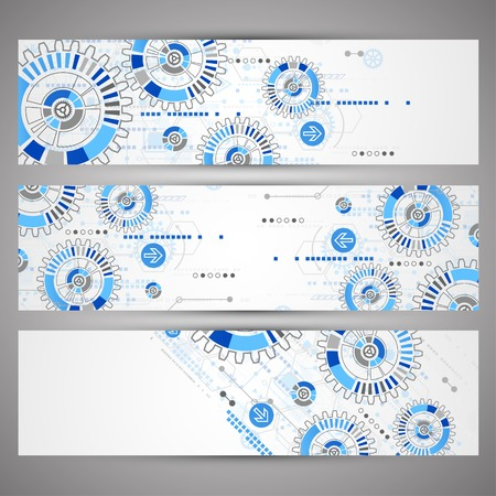website banner: Abstract technology concept of business background. Vector Illustration