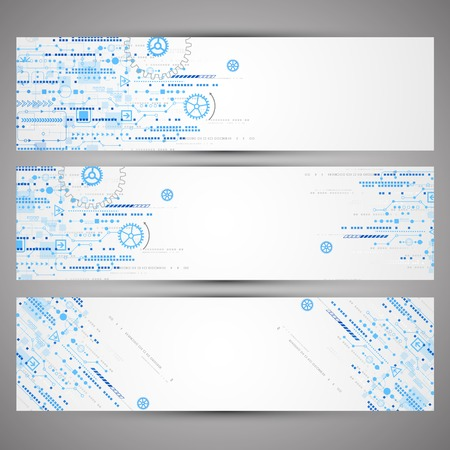Abstract technology concept of business background. Vector Stock Illustratie
