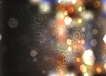 Abstract background, technology theme illustration Vector