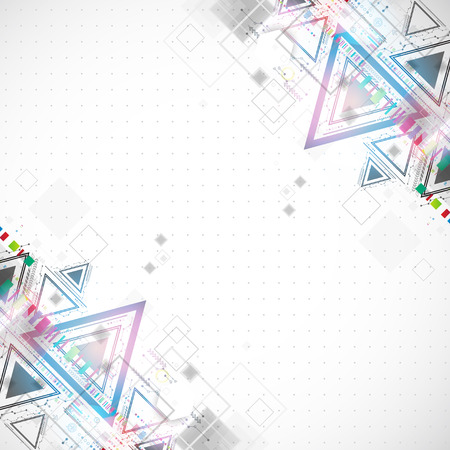 Abstract technology triangle background. Vector Vector