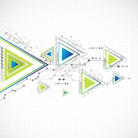 Abstract technology triangle background Vector
