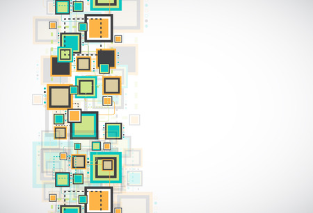 Abstract grunge retro square background. Vector