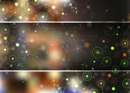 Color technology communication background.  Vector