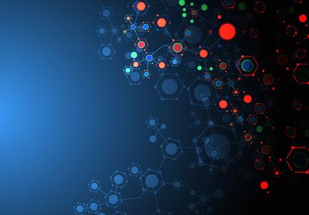 Color technology communication background. Vector Illustration