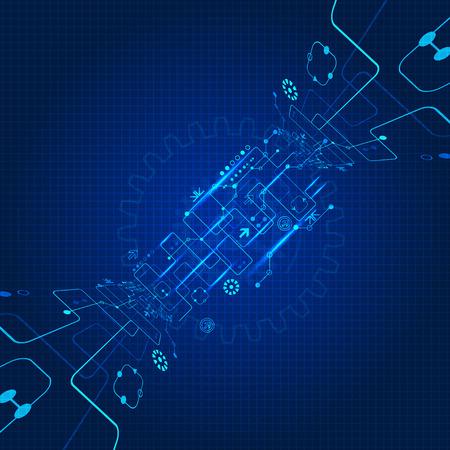 future: Abstract engineering future technology background Illustration