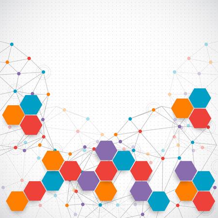 tecnología: Fondo la tecnología abstracta