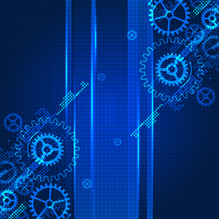 spinning wheel: Abstract technology business template background.