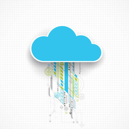 Web cloud banner template. Vector