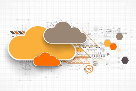 Web cloud banner template. Vector