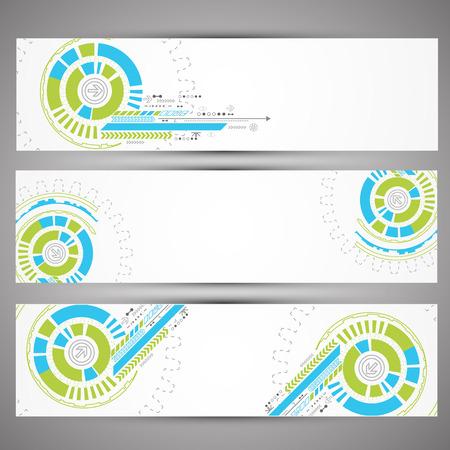 web technology: Insieme di tecnologie web a tema banner per il tuo sito web