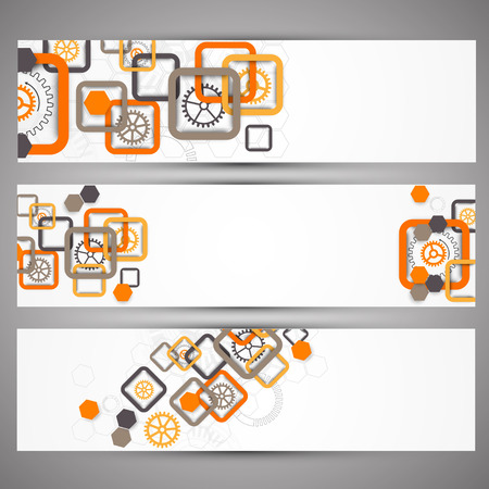 Set of web technology theme banners for your web site Zdjęcie Seryjne - 36664563