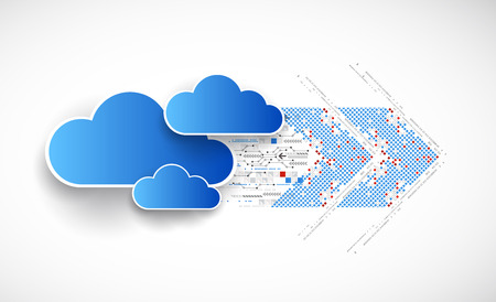cloud industry: Web cloud banner template. Vector Illustration
