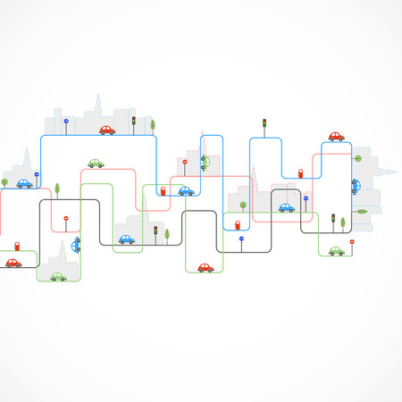 abstract city: Abstract city theme vector background
