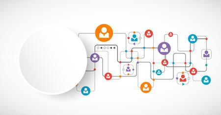 Network concept.  Social media. Vector